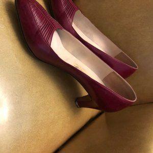 EUC Vintage Leather red heels